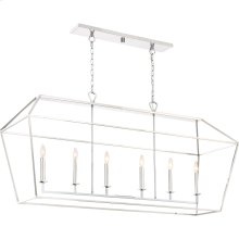 Aviary Island Chandelier in Polished Nickel