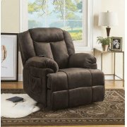 Casual Chocolate Velvet Power Lift Recliner Product Image
