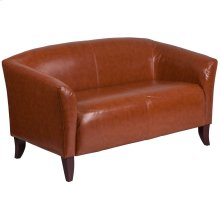 Cognac Leather Loveseat