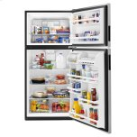 Amana 30-Inch Amana® Top-Freezer Refrigerator With Glass Shelves Stainless Steel