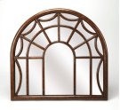 Reflect your taste for elegance and country decor in your home with this beautiful wall mirror. Resembling a spider web window frame, this wood mirrored piece complements a vintage style while offering a shimmering touch to any wall space. Hang in your Product Image