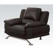 Black Bonded L. Match Chair