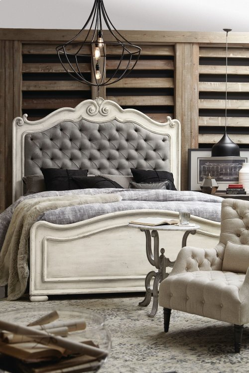 Bedroom Arabella King Upholstered Panel Bed