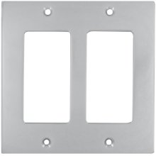 Double Rocker Modern Switchplate in (US26D Satin Chrome Plated)