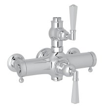 Polished Chrome Palladian Exposed Thermostatic Valve with Metal Lever