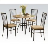 """36""""dia Wh 5pc Pack Dining Set Product Image"""
