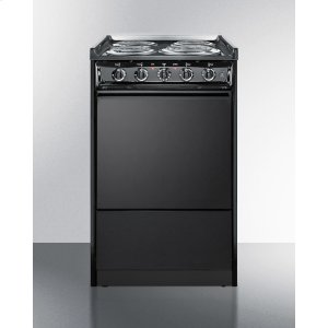 "Summit20"" Wide Slide-in Electric Range In Black With Lower Storage Compartment; Replaces Tem115r/tem110crt"