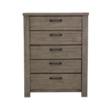 Ruff Hewn 5 Drawer Chest in Weathered Taupe