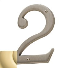 Non-Lacquered Brass House Number - 2
