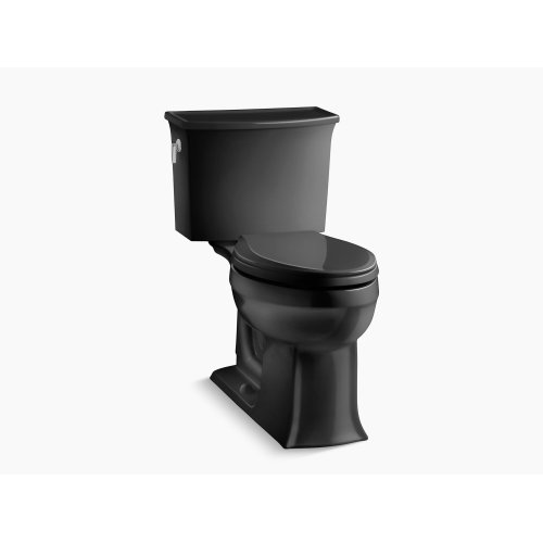 Black Black Comfort Height Two-piece Elongated 1.28 Gpf Toilet With Aquapiston Flushing Technology, Seat Not Included