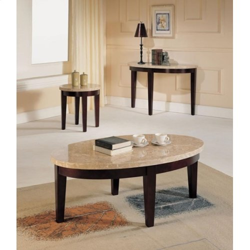 WH MARBLE TOP SOFA TABLE