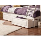 Two Raised Panel Bed Drawers Twin/Full in White Product Image