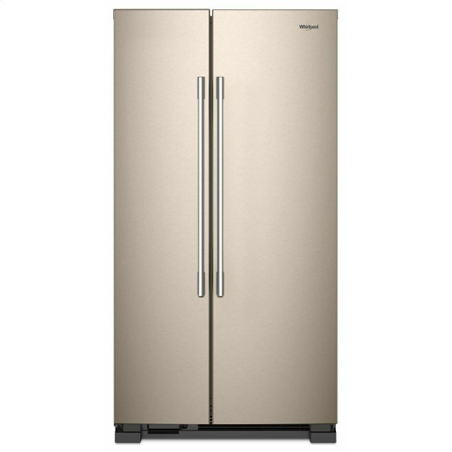 Whirlpool 36-inch Wide Side-by-Side Refrigerator - 25 cu. ft. Sunset Bronze