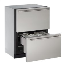 "Modular 3000 Series 24"" Solid Refrigerator Drawers With Stainless Solid Finish and Drawers Door Swing (115 Volts / 60 Hz)"