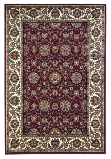 """Cambridge 7306 Red/ivory Floral Agra 5'3"""" X 7'7"""""""