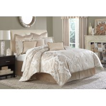 10pc King Comforter Set Creme