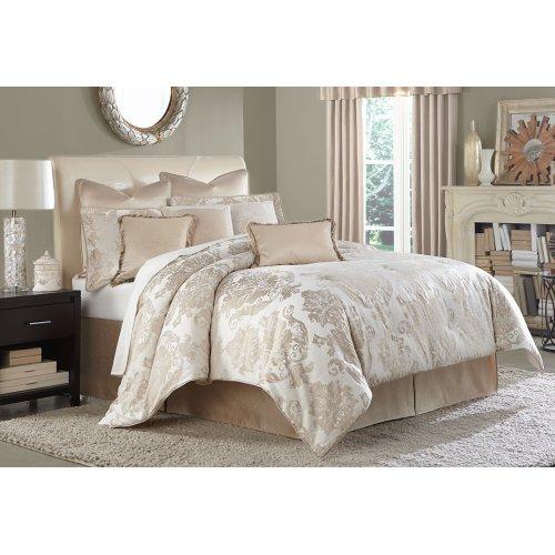 9pc Queen Comforter Set Creme