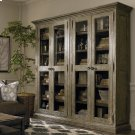 Emporium Smoked Oak Compass Tall Double Display Cabinet Product Image