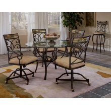 Pompei 5pc Caster Dining Set