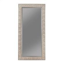 Transitional Silver Mosaic Rectangular Mirror