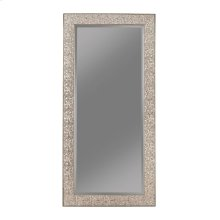 Transitional Silver Mosaic Rectangular Mirror