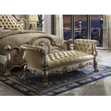 GOLD PATINA BENCH