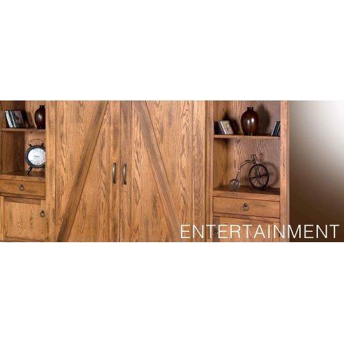 """Sedona 121""""W Barn Door Ent. Wall"""