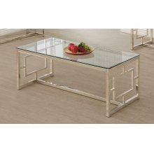 Occasional Contemporary Nickel Coffee Table