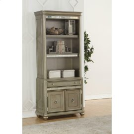 Ritzville Metallic Platinum Bookcase