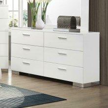 Felicity Contemporary Six-drawer Dresser