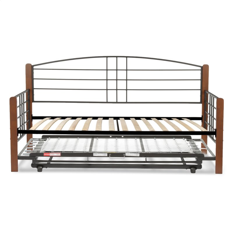 Dayton Complete Metal Daybed With Euro Top Deck And Trundle Bed Pop Up Frame
