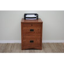 "O-M646 Mission Oak 2-Drawer Locking Vertical File Cabinet, 21""W x 21""D x 30""H"