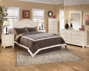 Cottage Retreat - Cream Cottage 5 Piece Bedroom Set Product Image