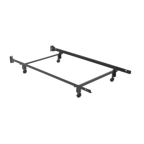 """Inst-A-Matic Hospitality H738R Bed Frame with Fixed Headboard Brackets and (4) 2"""" Locking Rollers, Twin"""