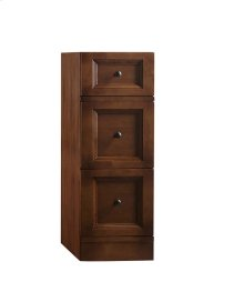 """Marcello 12"""" Freestanding Bathroom Storage Drawer Bank in Colonial Cherry"""