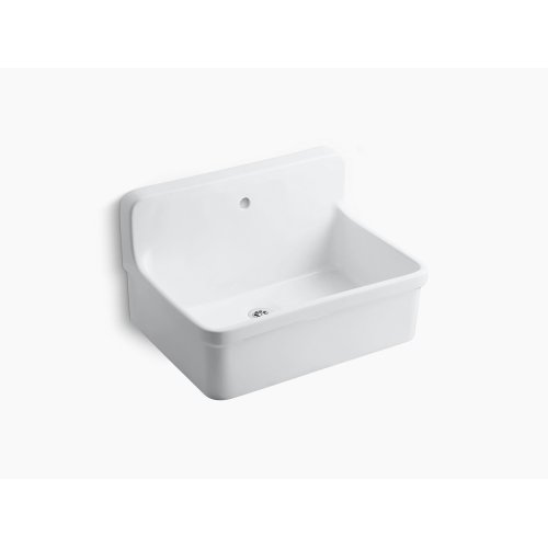 """White 30"""" X 22"""" Bracket-mounted Scrub-up/plaster Sink With Single Faucet Hole"""