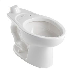 Madera 1.1-1.6 gpf Back Spud Elongated Bowl with EverClean  Right Height  American Standard - White