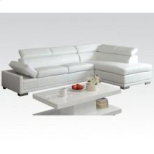Cleon White Bonded L Sectional