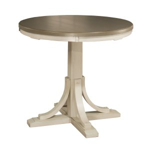 Hillsdale FurnitureClarion Round Counter Height Dining Table - Sea White Base With Distressed Gray Top