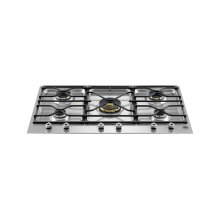 36 Segmented cooktop 5-burner Stainless Steel