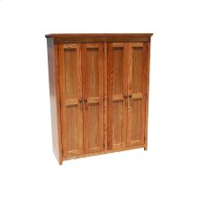 "Shaker Alder 48"" Full Door Bookcase"