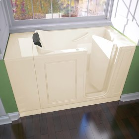 Luxury Series 28x48-inch Walk-in Whirlpool Tub  Right Drain  American Standard - Linen