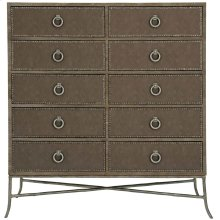 Rustic Patina Tall Chest in Peppercorn (387)