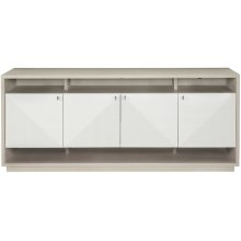 Axiom Entertainment Console in Linear Gray (381)