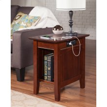 Nantucket Chair Side Table with Charger Walnut