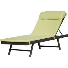 Orleans 2-Piece Chaise Lounge Chair: One Woven Chaise with Cushion