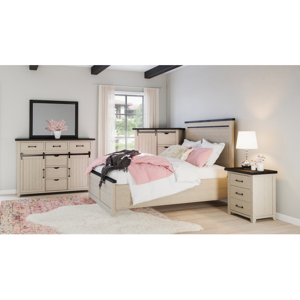 Madison County Queen Panel Bed - Vintage White