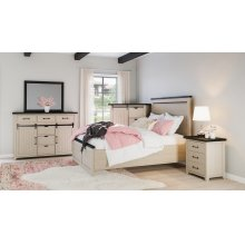 Madison County Queen Panel Headboard - Vintage White