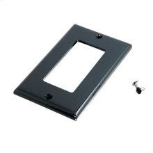 Decorative Style Single Gang Wall Plate - Black