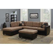 Mallory Casual Tan Sectional